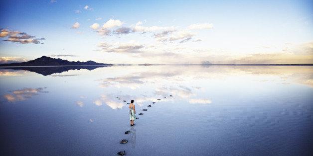 calming blue scenes to