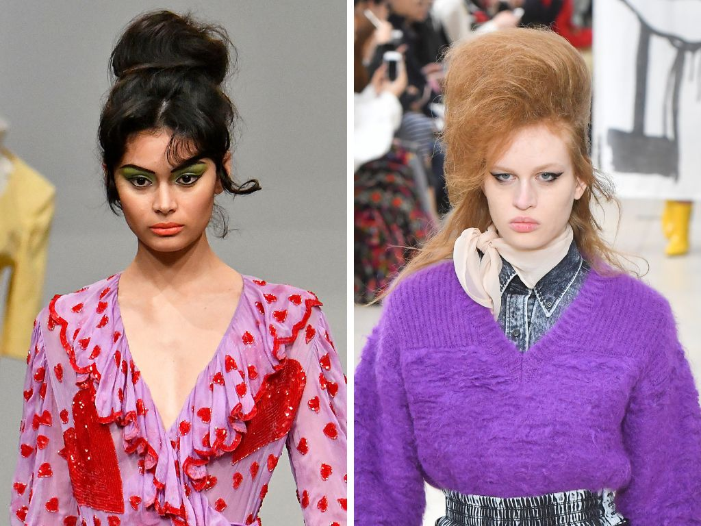 Fall 2018's big bouffant isn't for the faint of heart, but if you like making a statement with your hair, it's perfect. The v
