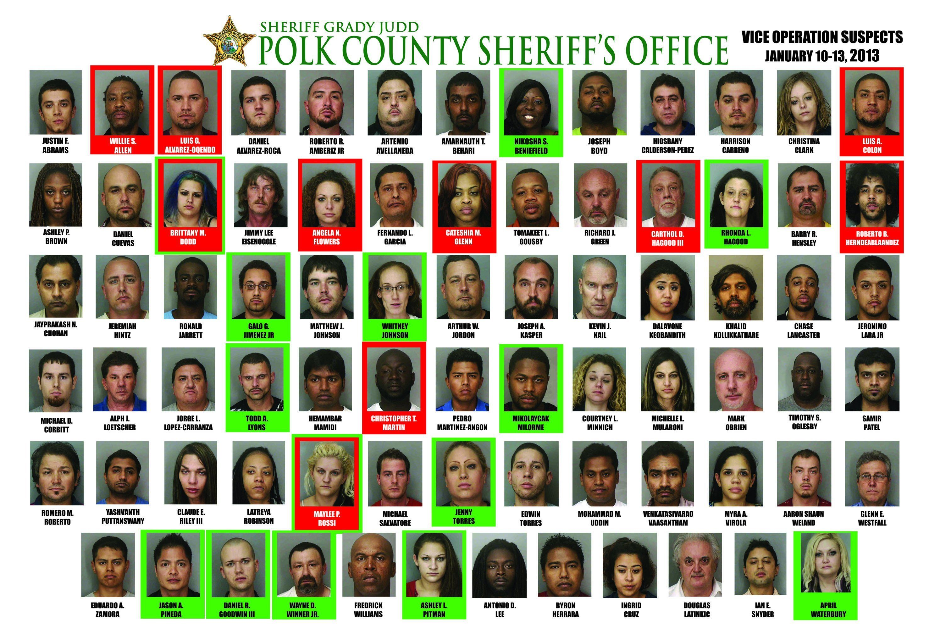78 Arrests In 4 Day Prostitution Sting By Polk County