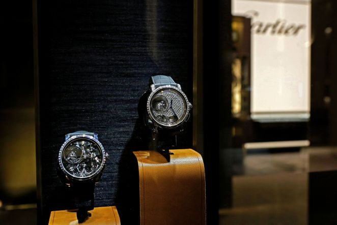 Cartier watches. The brand's owner, Richemont, recently destroyed millions of dollars' worth of stock and recycled the parts.