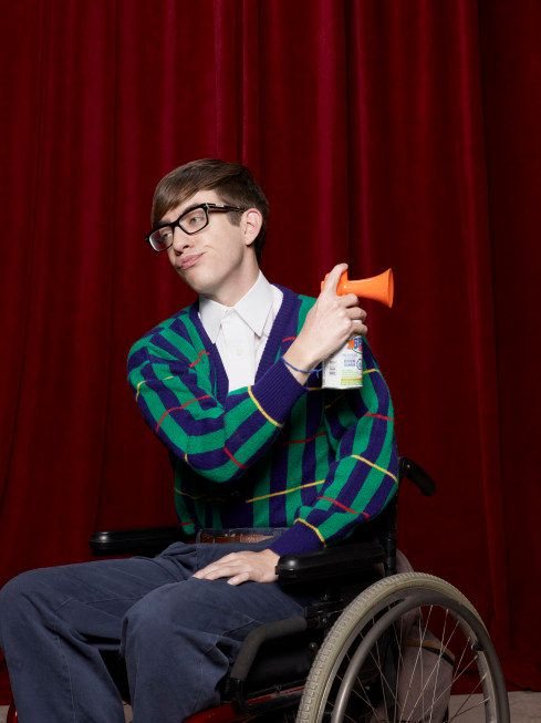 wheelchair glee folding chairs sams club kevin mchale talks season 3 artie s new love interest the cast of often acknowledges that is one best dancers in group even though his character a