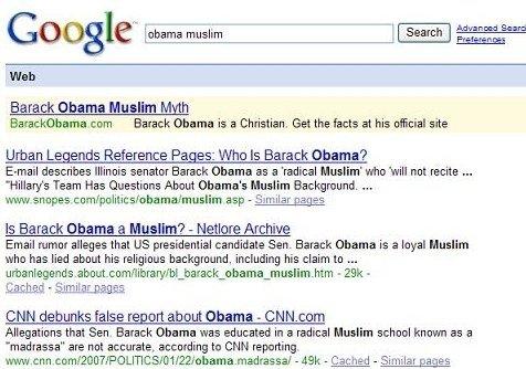 obama camp buys google