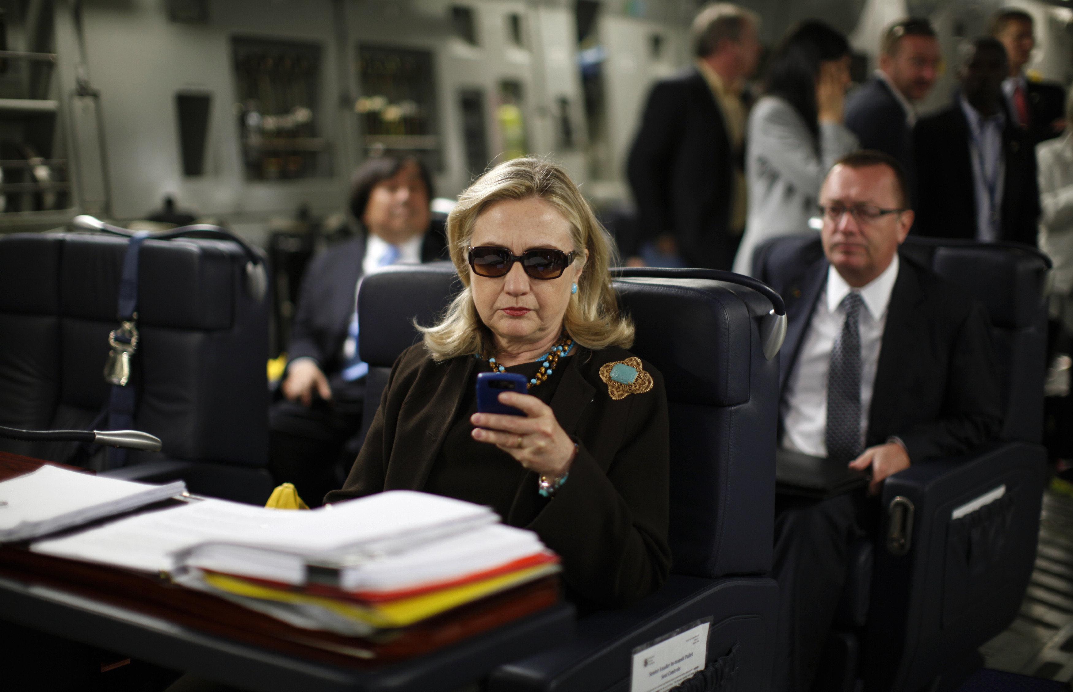 hillary clinton thanks texts