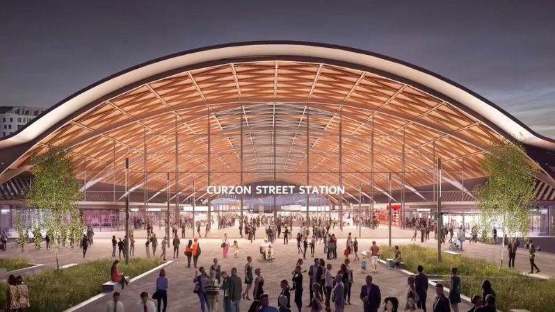 The new station design for Curzon Street.