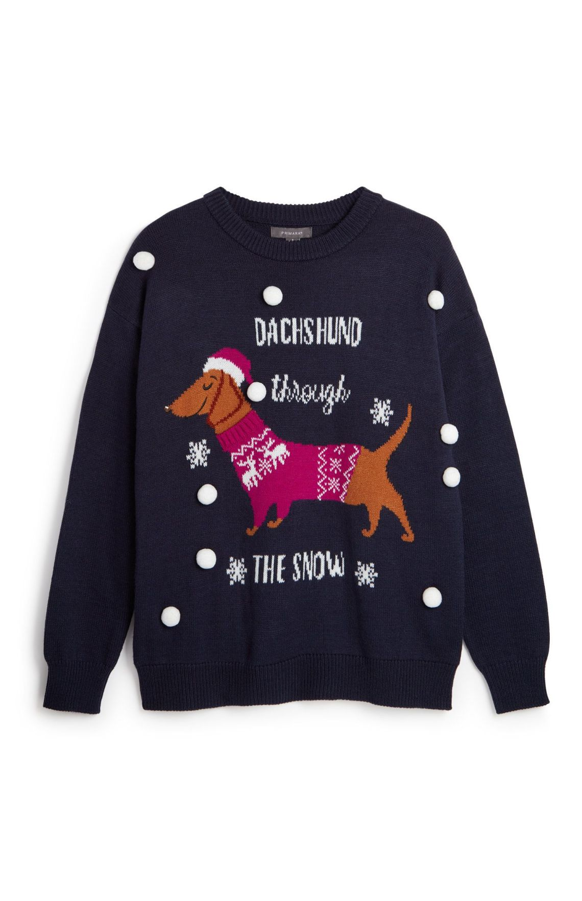 Not only does this have a sausage dog in its own Christmas jumper, but HELLO POMPOMS.Primark, £12, available in stores now