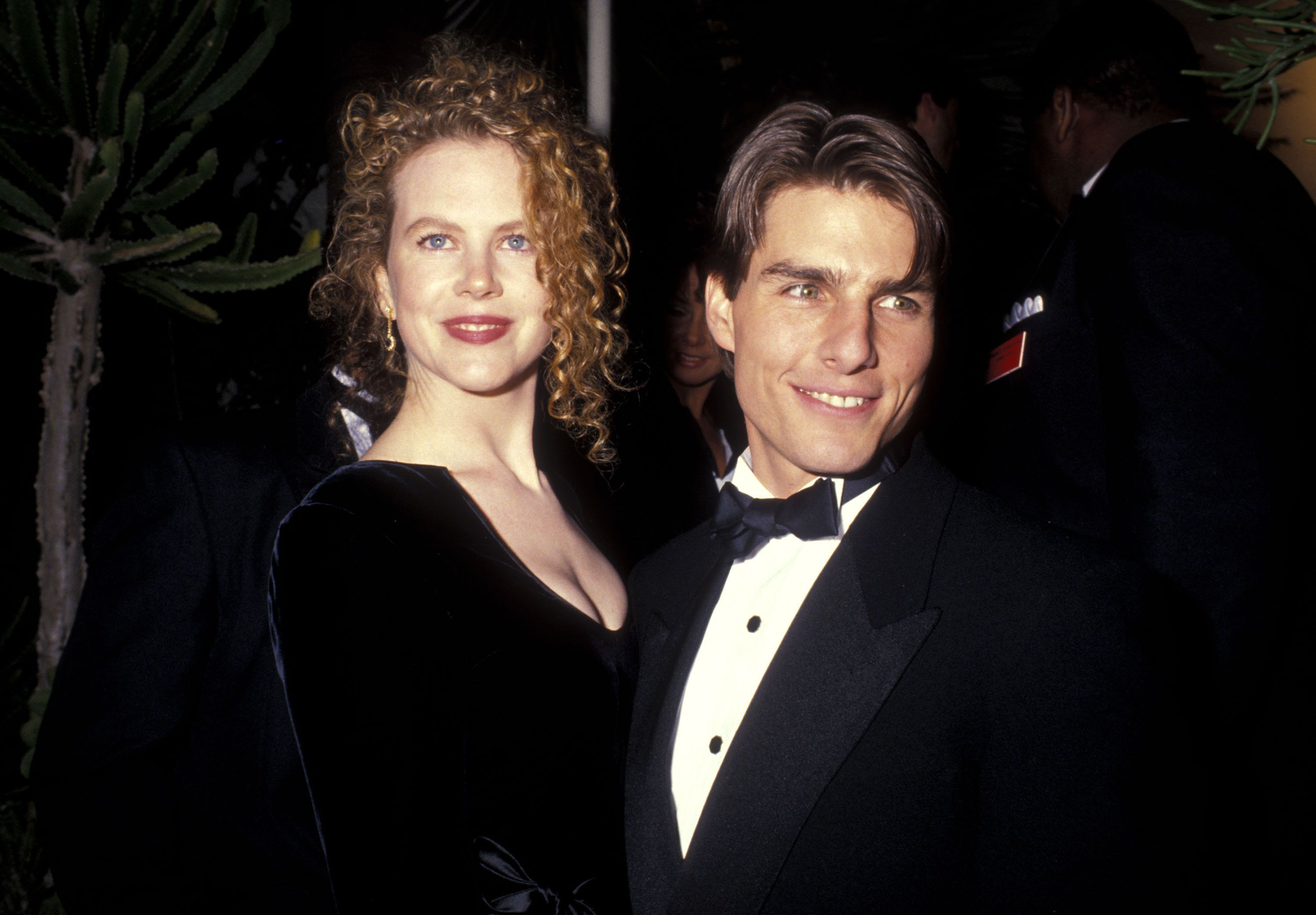 Nicole Kidman and Tom Cruise attend the 1991 Annual Academy Awards after party.