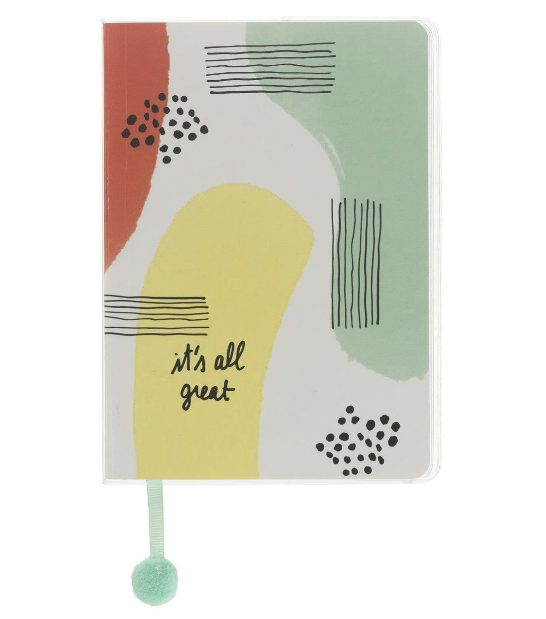 Okay we'll be honest, it was the pom pom bookmark that sold this A5 notepad to us. But we do also love the funky design and the absolute bargain of a price.HEMA. £3.