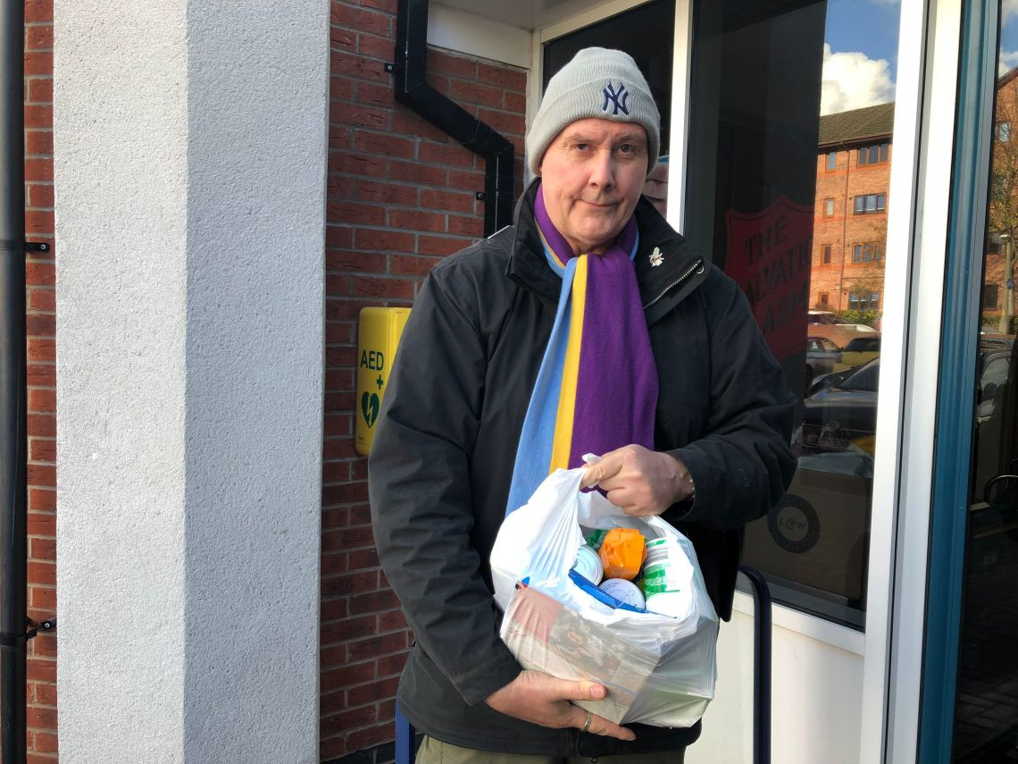 Mark Schwalbe, 55, has been to university six times and has numerous degrees and diplomas - but is now reliant on a foodbank to survive