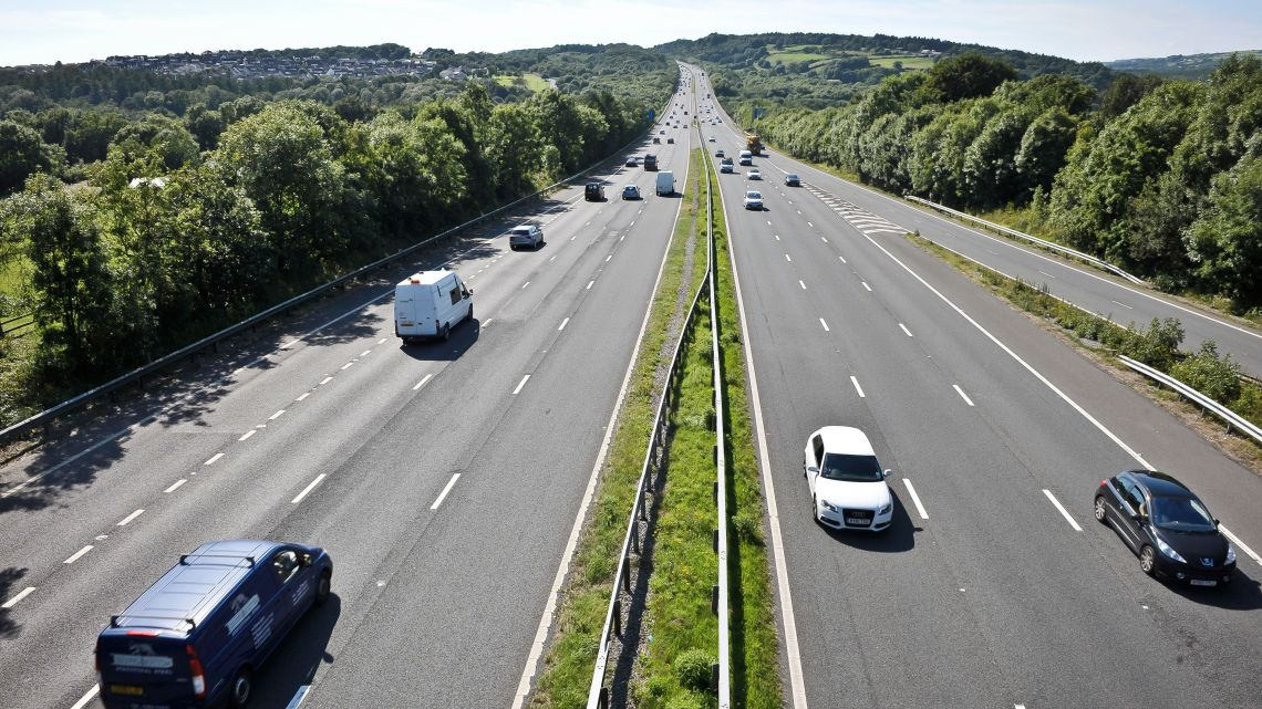 File photo of the M5 in Worcestershire.