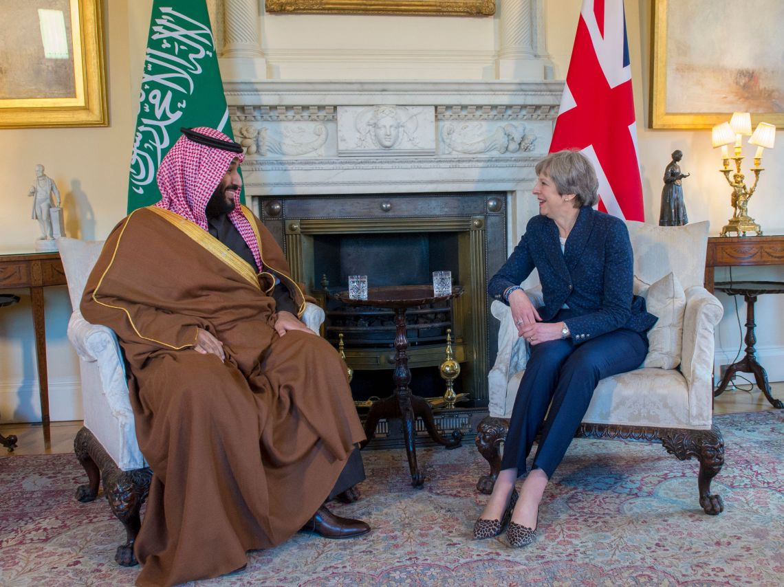 Theresa May meets Saudi Crown Prince, Mohammad bin Salman in London
