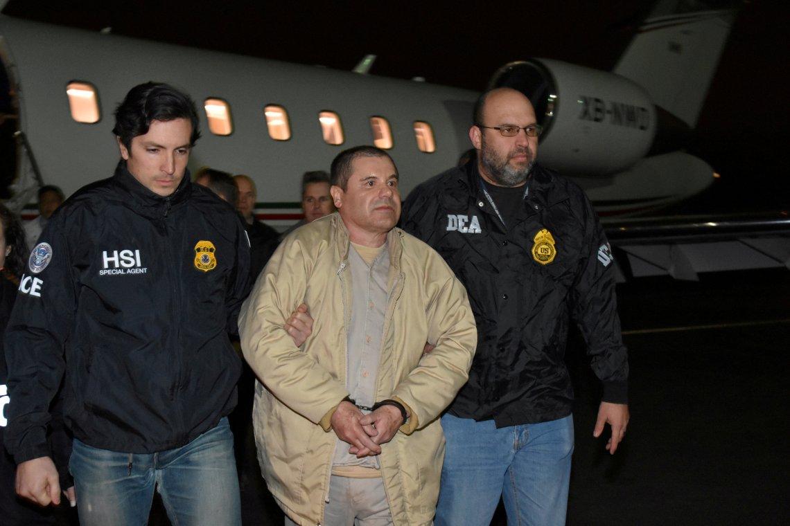 Guzman arriving in New York in January 2017