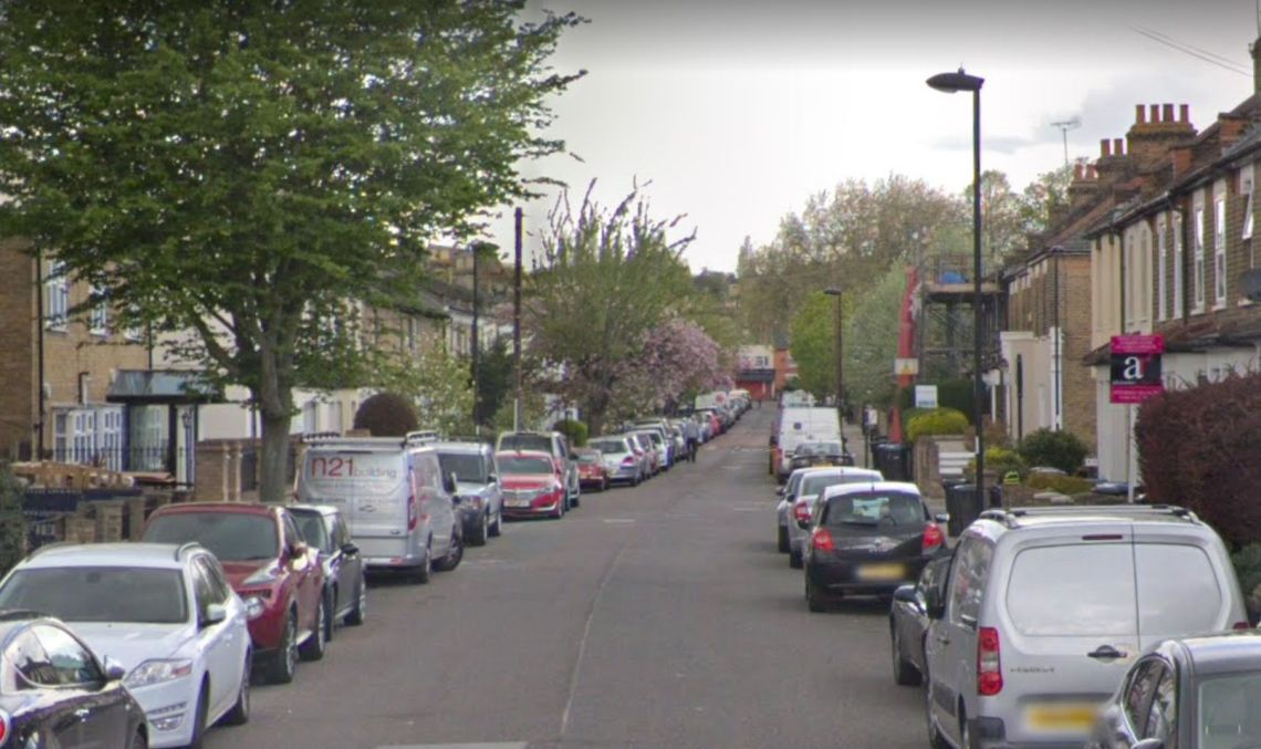 The incident happened on Gordon Road in Enfield on Saturday.
