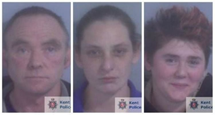 (R-L) Glenn Pollard, his daughter Heather and lover Hayley Weatherall were all sentenced to life in jail after plotting to kill Hayley's husband