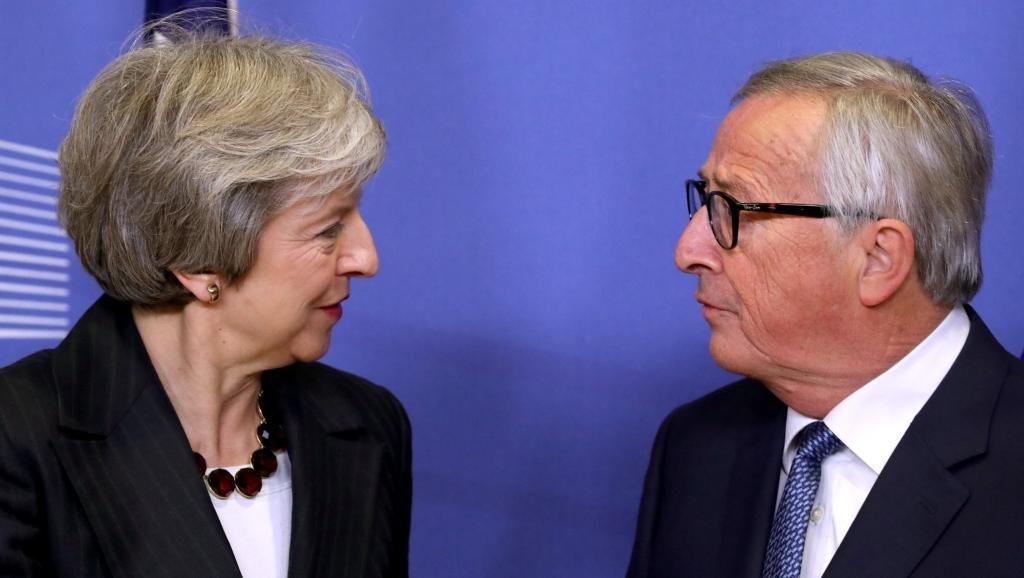 Theresa May meets European Commission president Jean-Claude Juncker in Belgium.