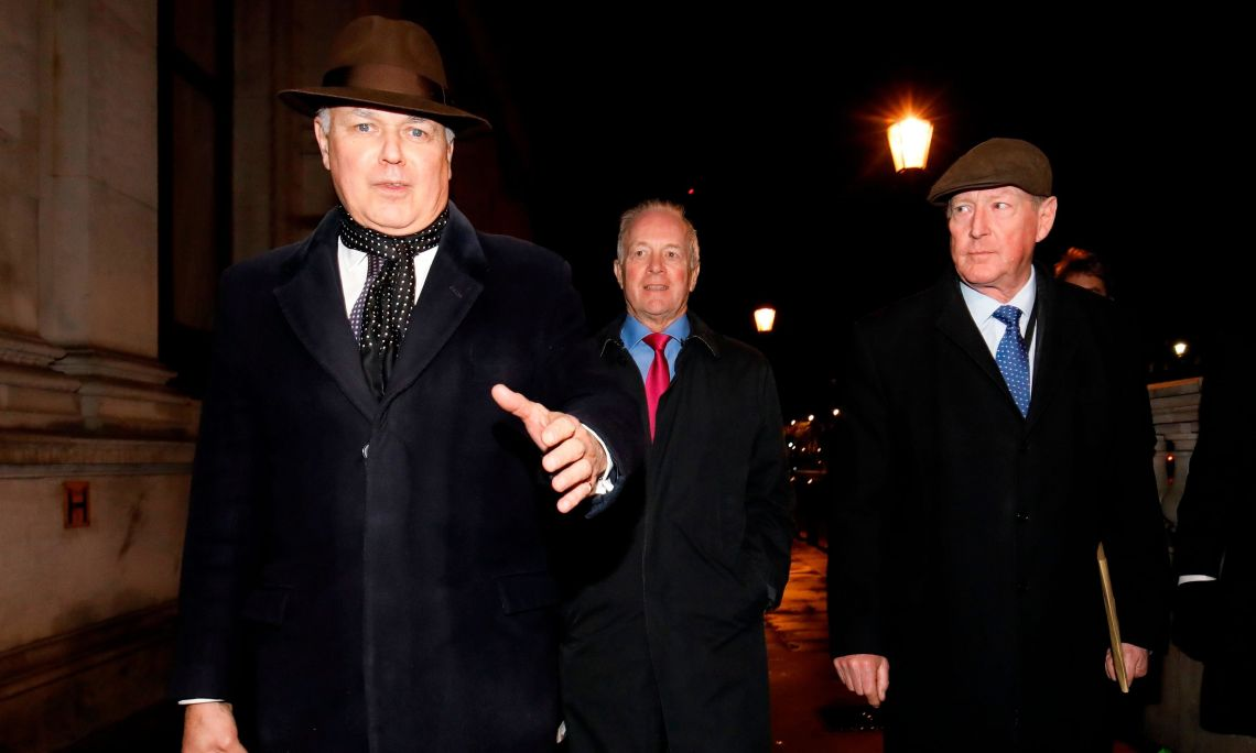 Iain Duncan Smith, Peter Lilley and David Trimble leave No.10