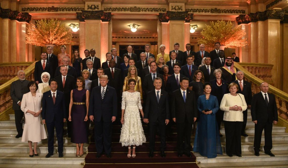 G20 leaders including Theresa May attended a performance of dance and music at the Colon Theatre in Buenos Aires on Friday evening.