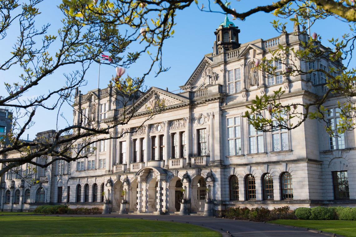 The main building at Cardiff University, where there has been a hike in housing costs of more than three-quarters.