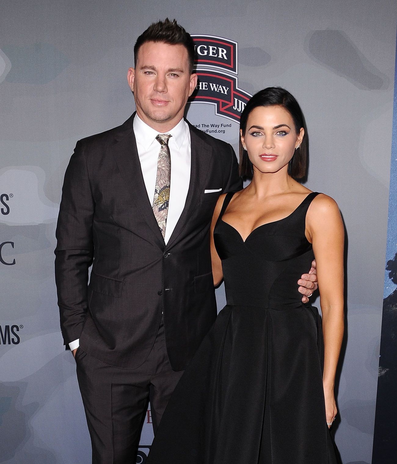 Channing Tatum and Jenna Dewan attend the premiere of 'War Dog: A Soldier's Best Friend' on Nov. 6, 2017, in Los Angeles.