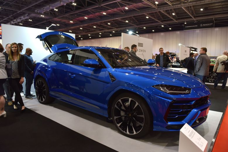 A Lamborghini Urus SUV, displayed at the London Motor Show in May, typically sells for $240,000 or more with options.