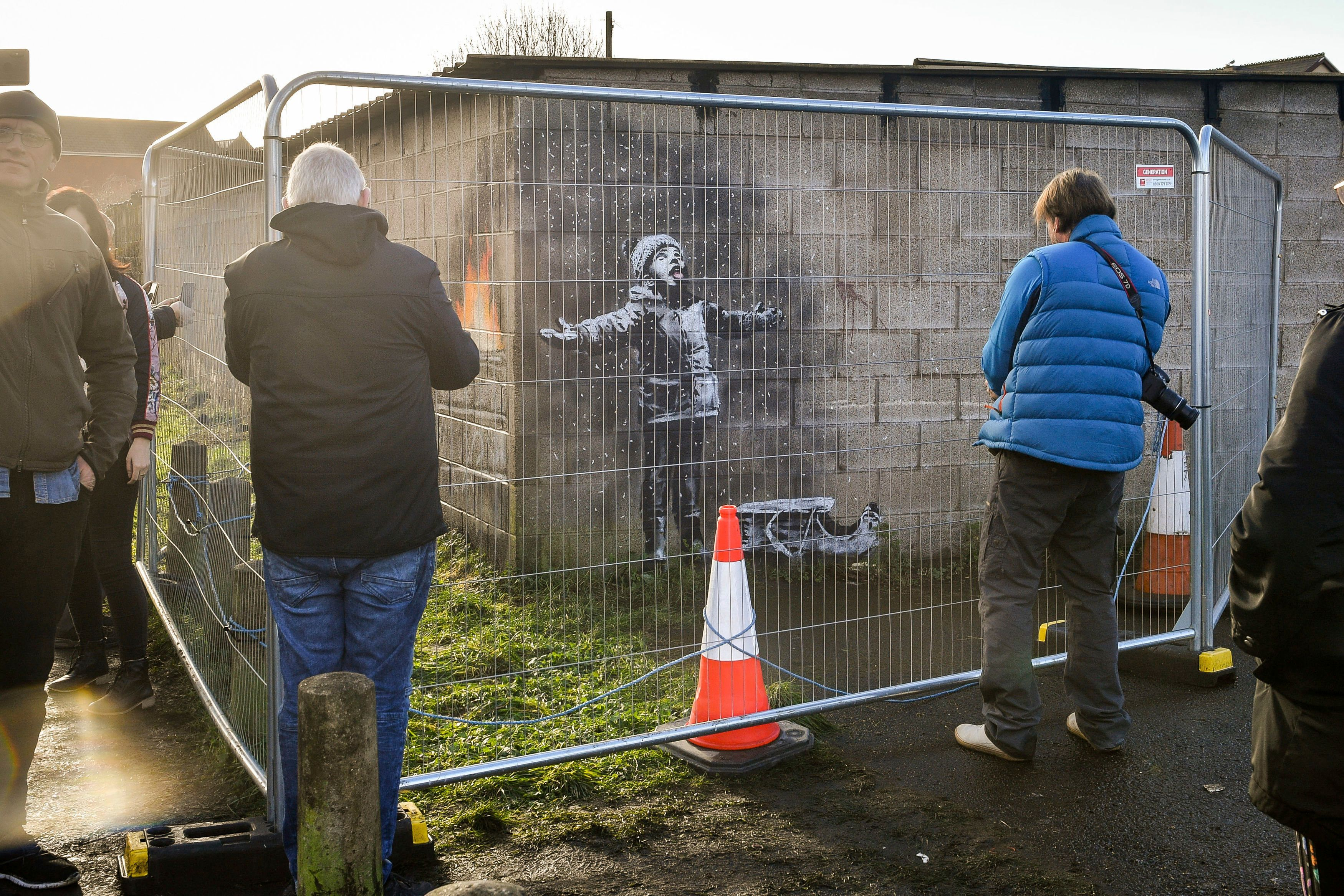 The local council cordoned off the mural to protect it.