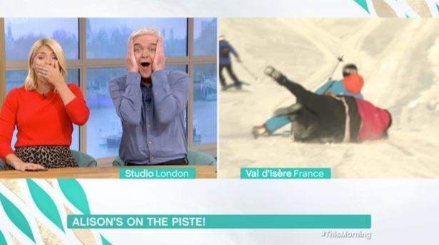 Alison Hammond took a tumble on Thursday's 'This Morning'