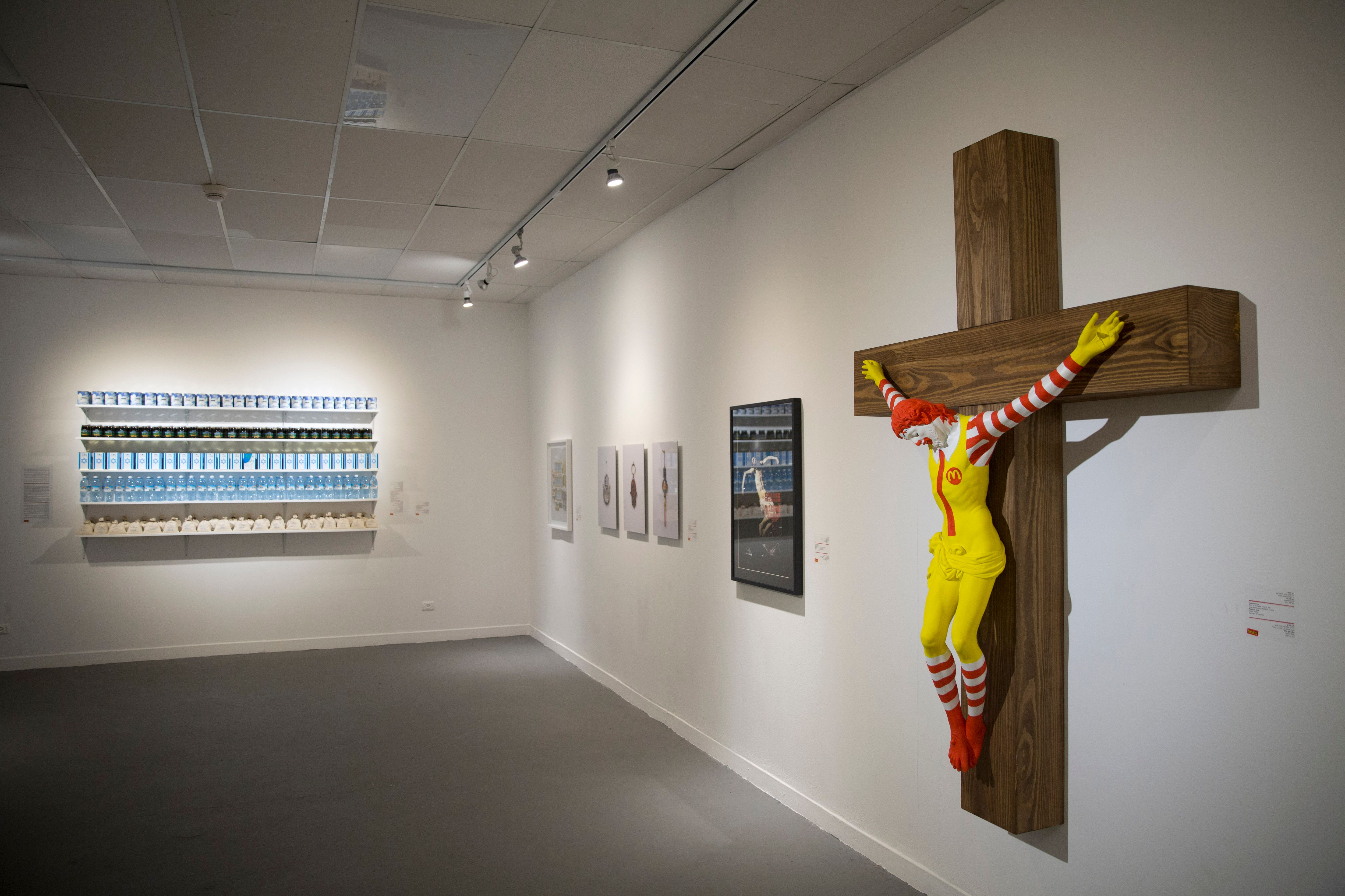 Crucified Ronald Mcdonald Sculpture Sparks Protests In