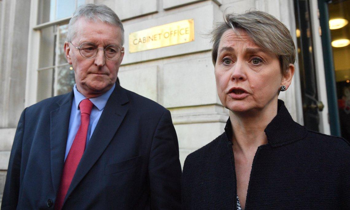 Labour's Hilary Benn and Yvette Cooper