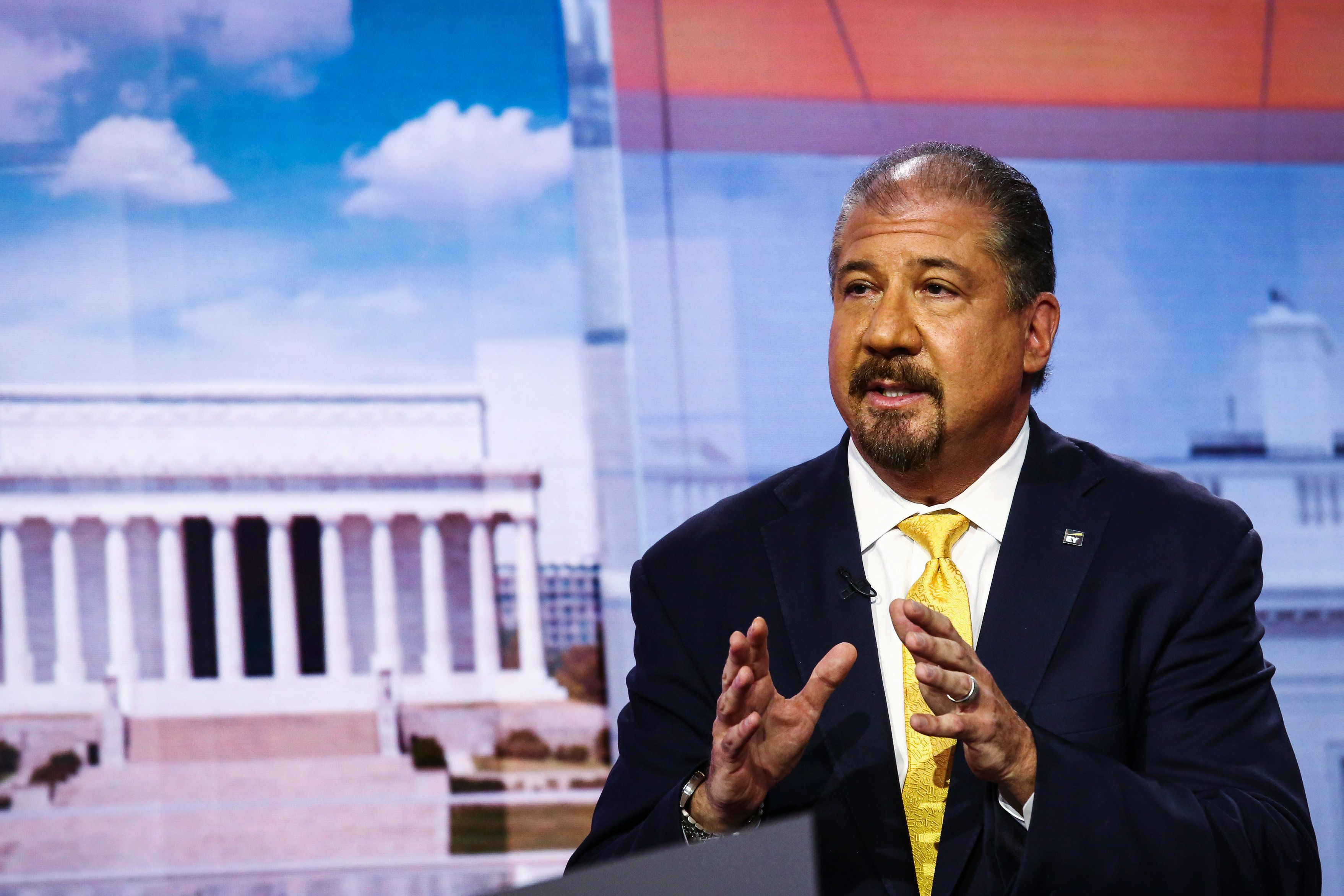 Ernst & Young CEO Mark Weinberger has spoken publicly about his commitment to gender equality but has not said anything a