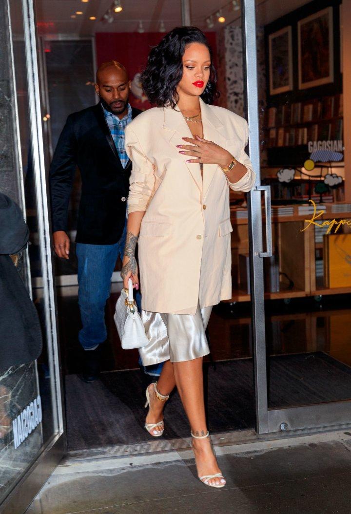 Rihanna goes to dinner at Kappo Masa on Jan. 30, 2019, in New York City.