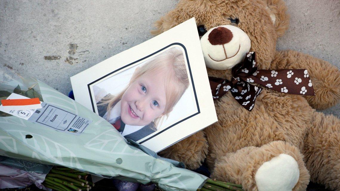 Tributes left to six-year-old Alesha MacPhail