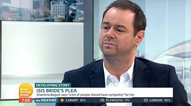 Danny Dyer was voiced his views on the Shamima Begum controversy