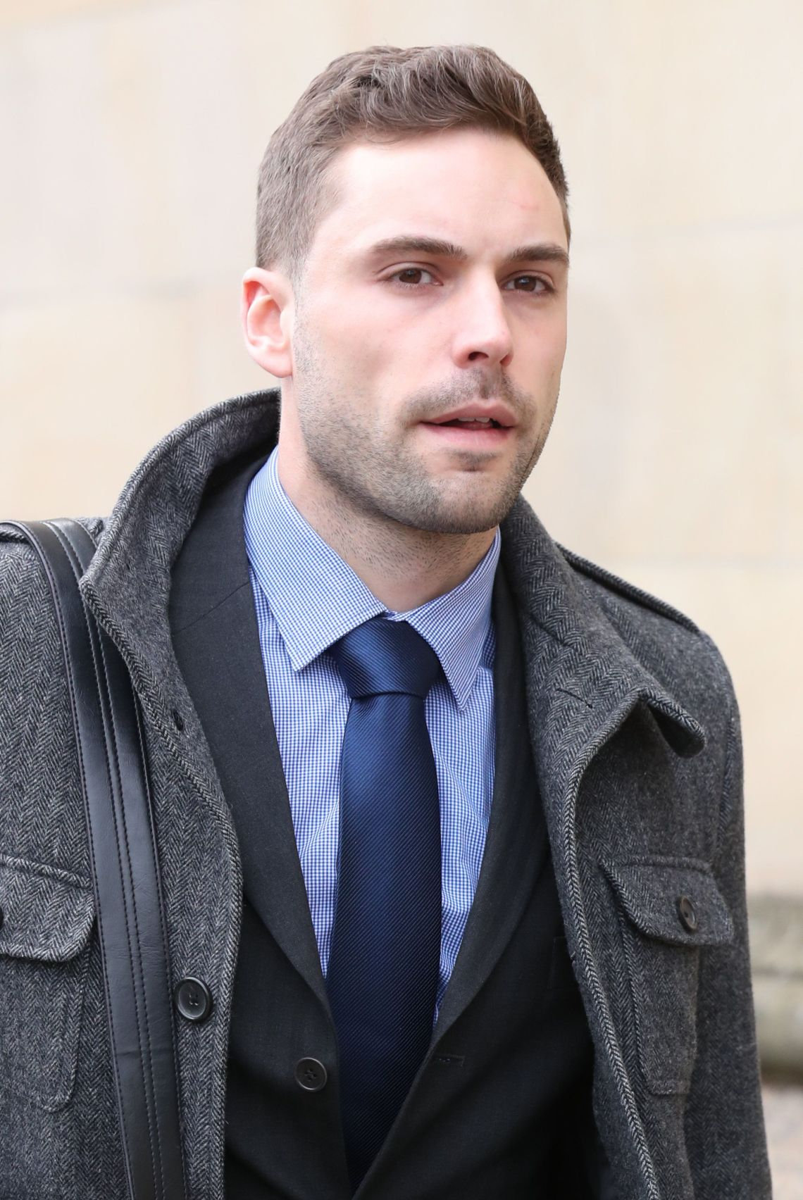 Forensic scientist Stuart Bailey outside the High Court in Glasgow