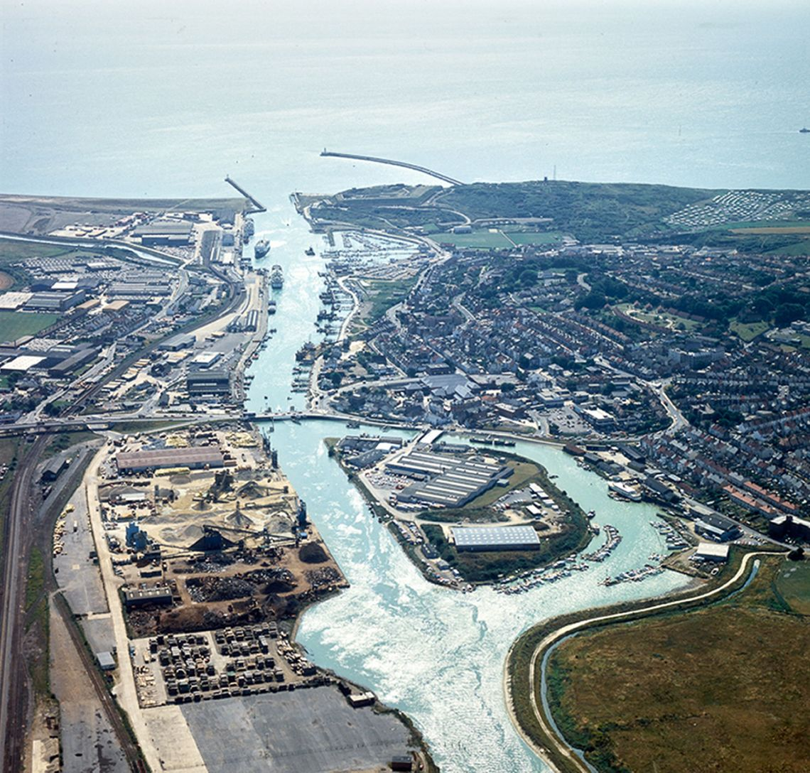 Newhaven Docks in 1983.