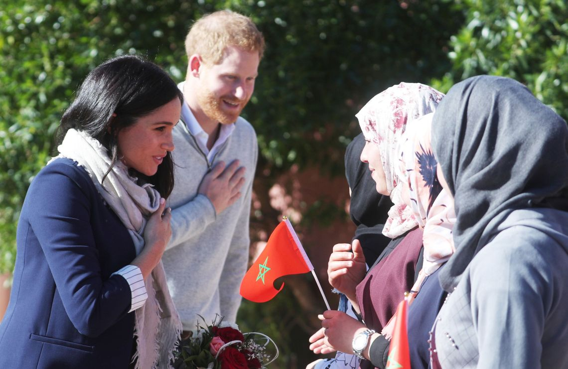 Harry and Meghan visited a boarding house for women and girls in the mountain town of Asni.