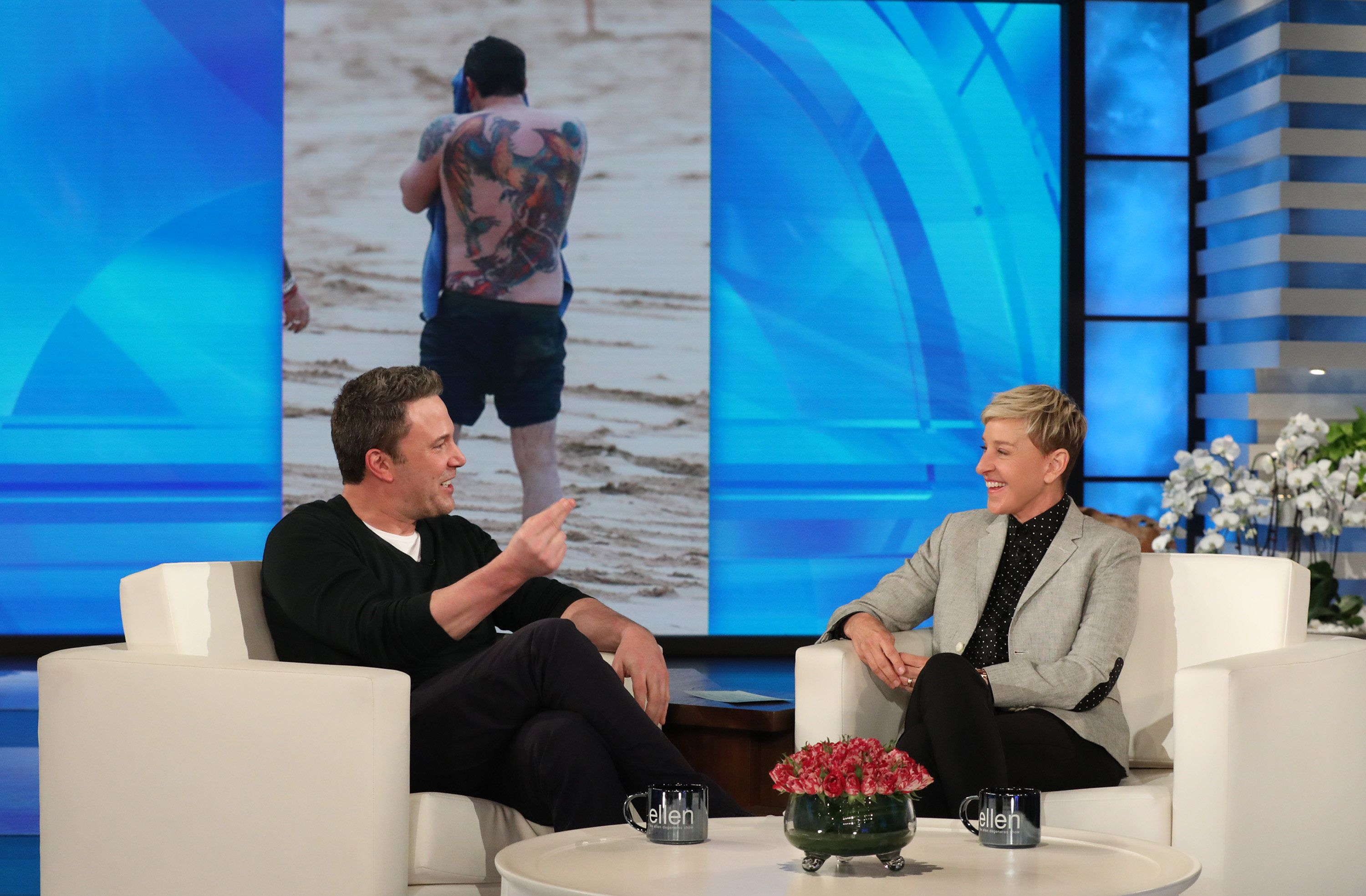 Ben Affleck chats about his tattoo with Ellen DeGeneres.