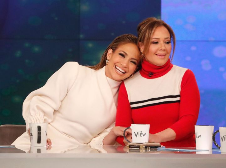 Jennifer Lopez and Leah Remini first met through Lopez's ex-husband Marc Anthony.