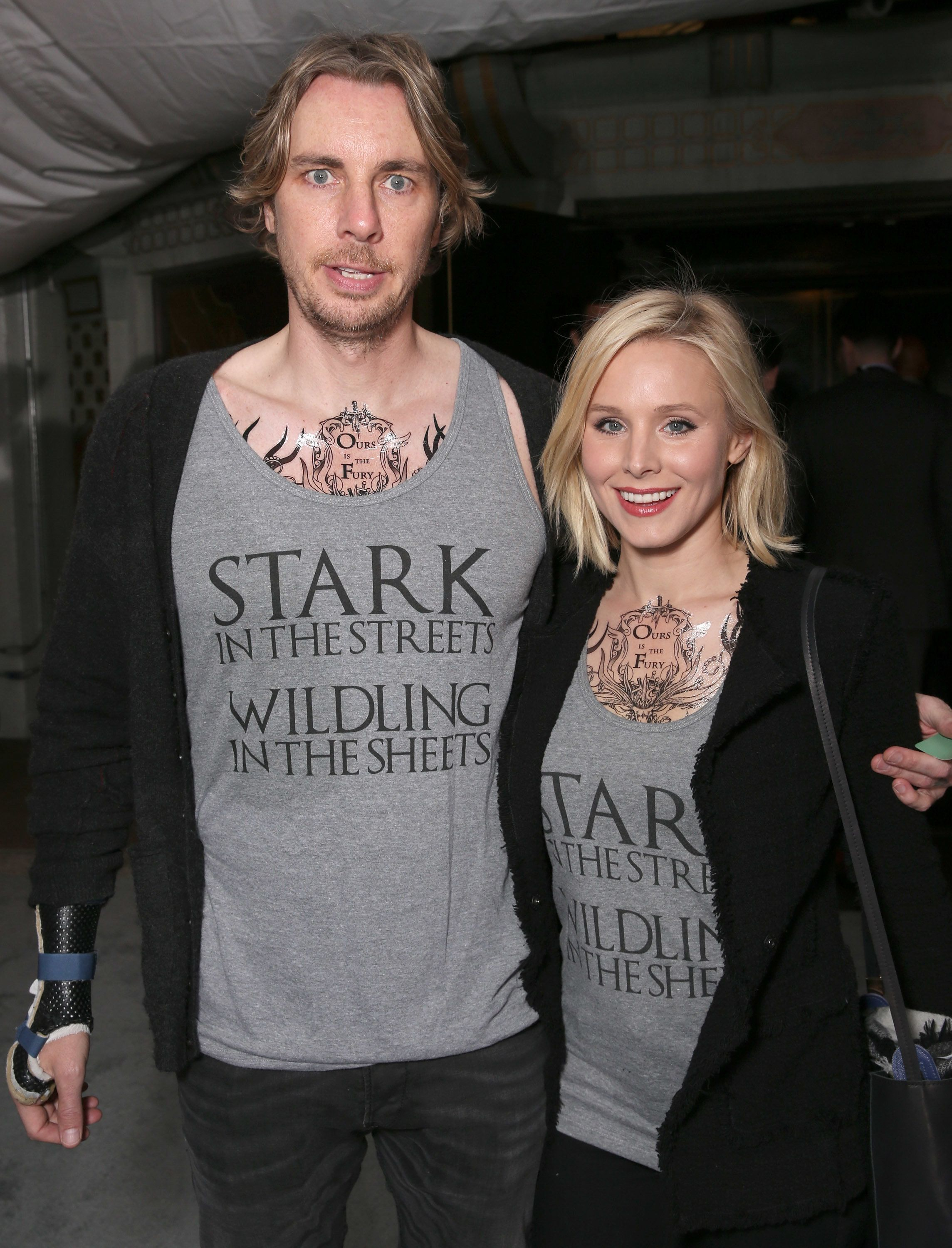 "Dax Shepard and Kristen Bell attend the premiere of ""Game Of Thrones"" Season 6."