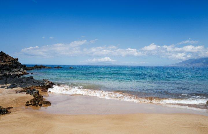 Wailea Beach is just one of the many sunny and sandy spots on the Hawaiian island of Maui.