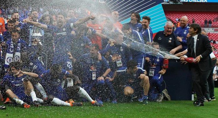 Finale de la Coupe d'Angleterre - Chelsea vs Manchester United - Stade de Wembley, Londres, Grande-Bretagne...