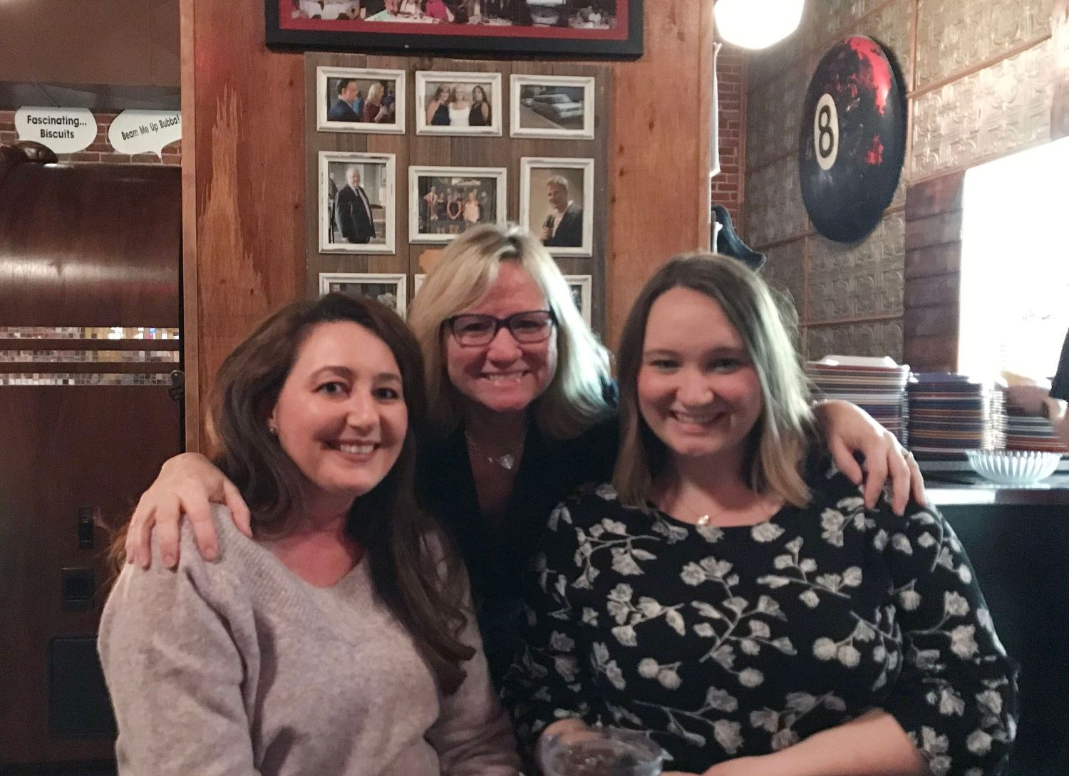 Melissa Boughton (right), with her mom (middle) and her sister (left) during a recent visit to Texas. Both women were the aut