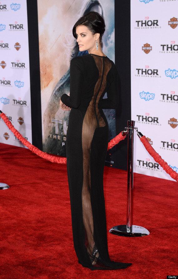Jaimie Alexander Wears No Underwear For Daring Red Carpet