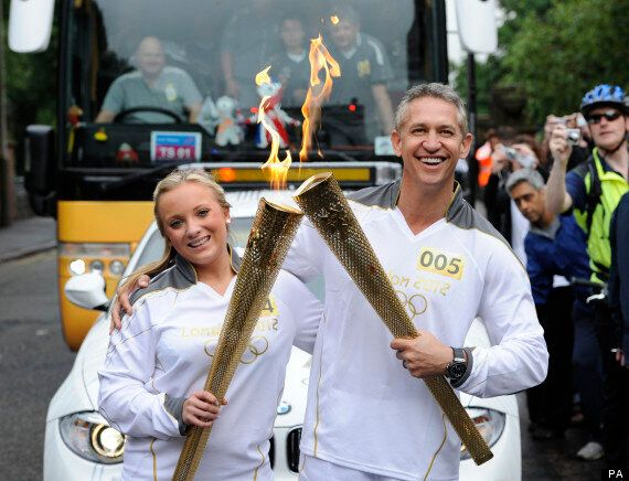 London 2012 Gary Lineker Carries Olympic Torch Pictures