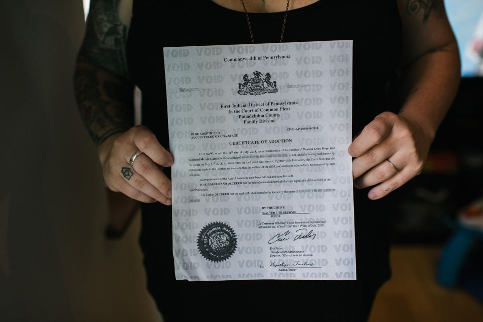 After the birth of their first child, the couple pursued second-parent adoption in order to shore up parental rights. They expect to complete that process with their second child on July 26, 2019.