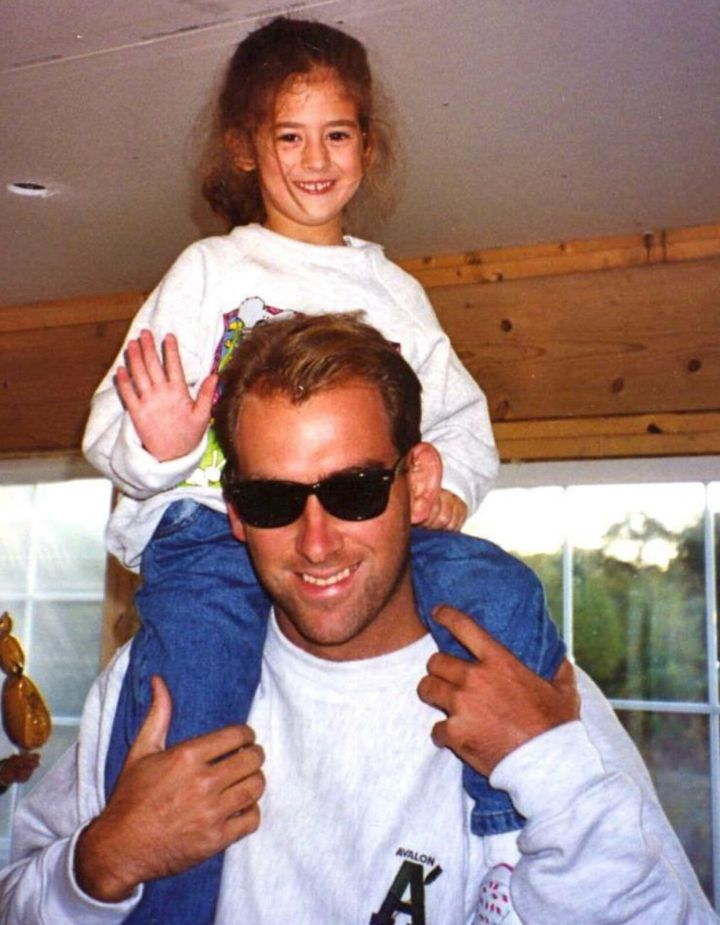 At 6 feet 6 inches tall, Chris was my go-to for shoulder rides.