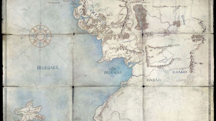 "A map Amazon released to tease its upcoming ""Lord of the Rings"" show."