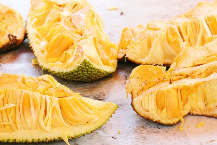 Jackfruit may not look particularly appetizing raw, but when cooked it mimics the texture of shredded meat.