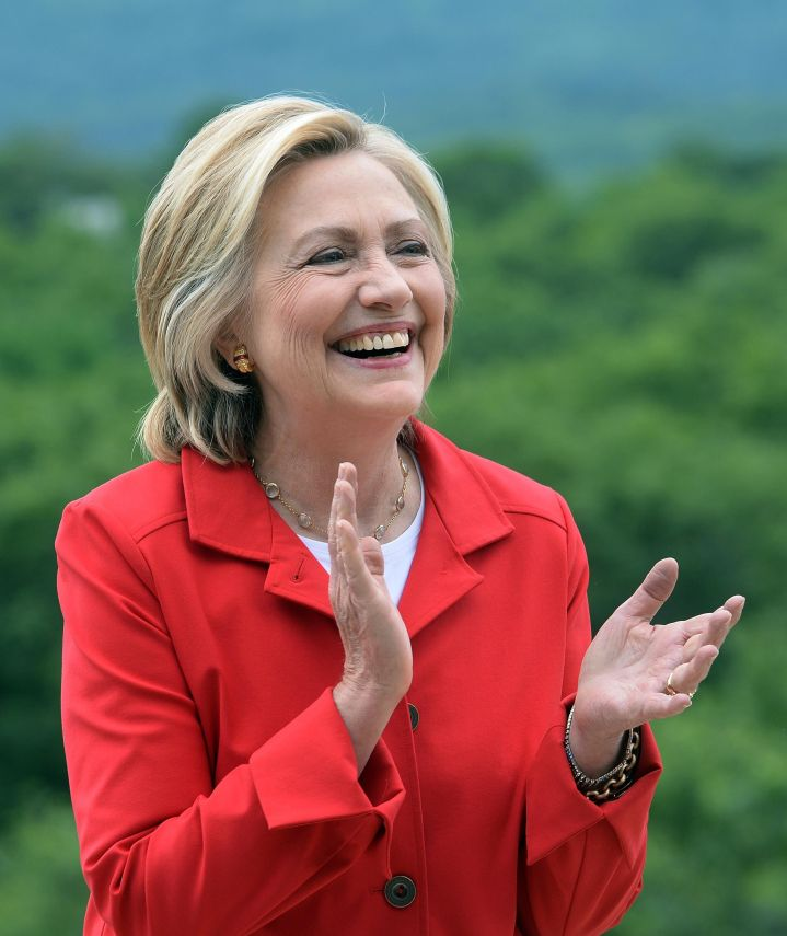 Hillary Clinton during a 2015 campaign event in Glen, New Hampshire.