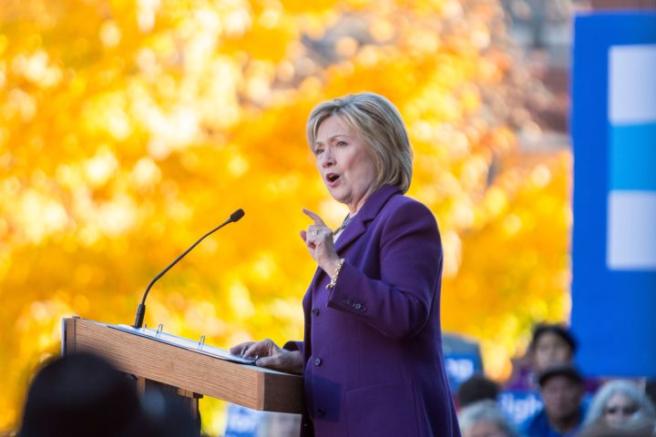Clinton at a rally on Nov. 9, 2015, in Concord, New Hampshire.