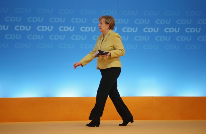 Merkel at a political gathering on Dec. 10, 2014, in Cologne, Germany.