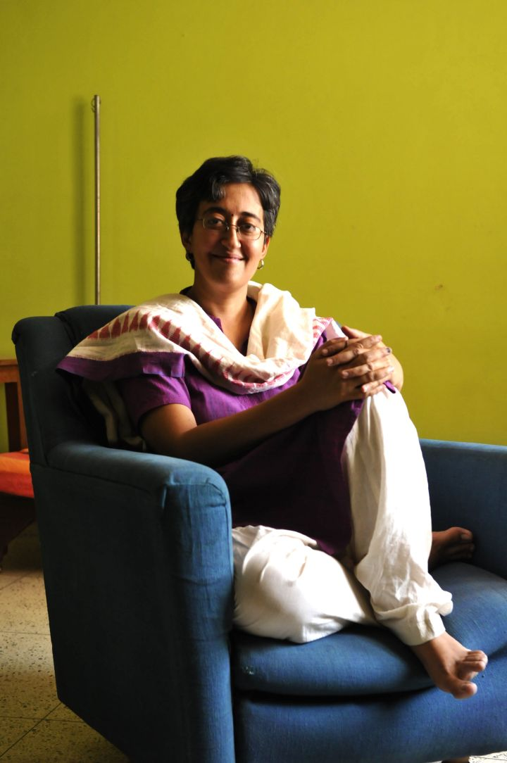 Atishi at her home on June 2, 2015, in Noida, India.